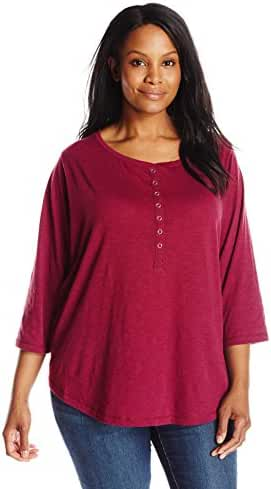 Riders by Lee Indigo Women's Plus-Size Sassy 3/4 Sleeve Knit Shirt