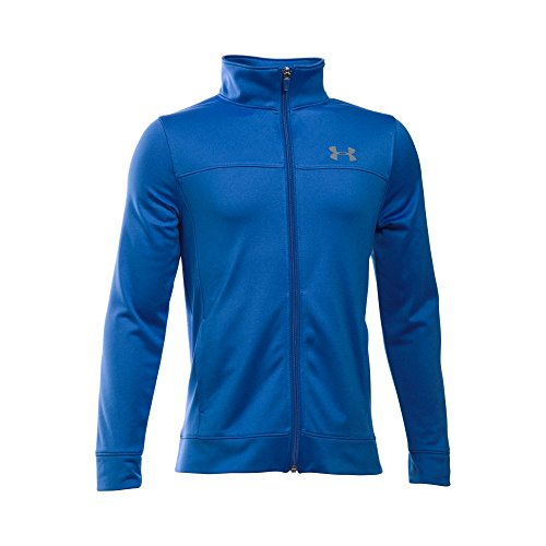 Under Armour Boys' Pennant Warm Up Jacket, Ultra Blue/Graphite, Youth Medium