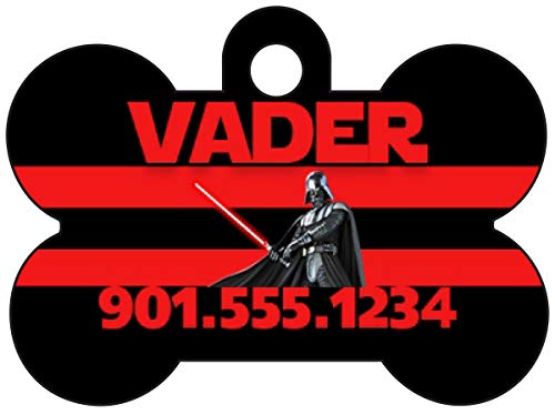 Disney Star Wars Darth Vader Custom Pet Id Dog Tag Personalized for Your Pet (Black) ()