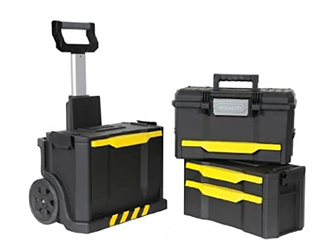 Tool cart with plastic drawers, tool box and tool chest.