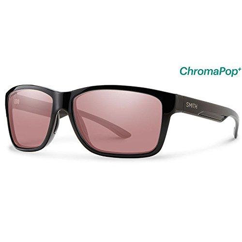 Smith Optics Men's Drake Sunglasses (Black , Polarchromic - Drake With Glasses