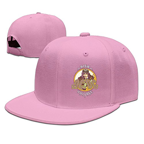 AC DC High Voltage Caps & Hats Mens Adjustable Snapback Hats Visor Pink
