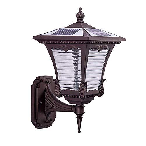 Luz Solar De Pared Exterior, Luz De Pared Exterior Impermeable, Luz De Jardín, Terraza Exterior, Terraza De Jardín Luz De...