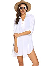 7424fe2e083b Women s Swimsuit Beach Cover Up Shirt Bikini Beachwear Bathing Suit Beach  Dress S-XL