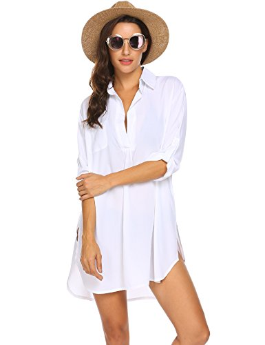 Image of Ekouaer Women�s Bathing Suit Cover Up Beach Bikini Swimsuit