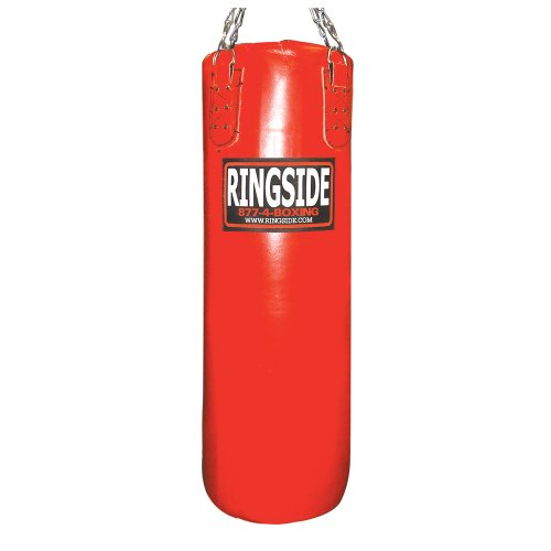 Ringside 100-pound Leather Boxing Punching Heavy Bag (Filled)