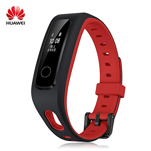 Huawei Honor Band 4 Fitness Tracker Sports Wristband Infrared All-in-One Activity Tracker 5ATM Waterproof Running Edition (Red)
