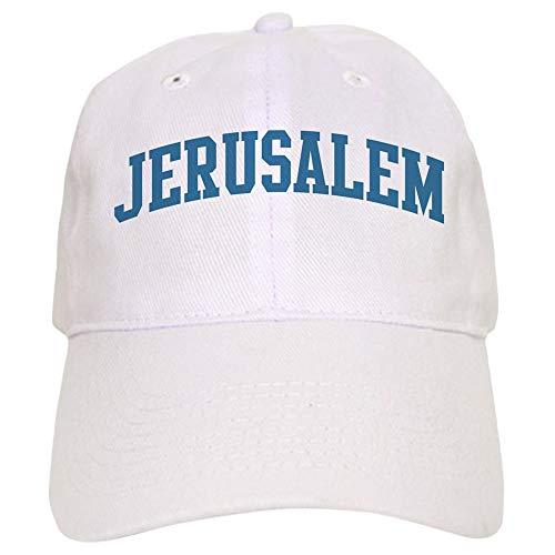 CafePress Jerusalem (Blue) Baseball Cap with Adjustable Closure, Unique Printed Baseball Hat