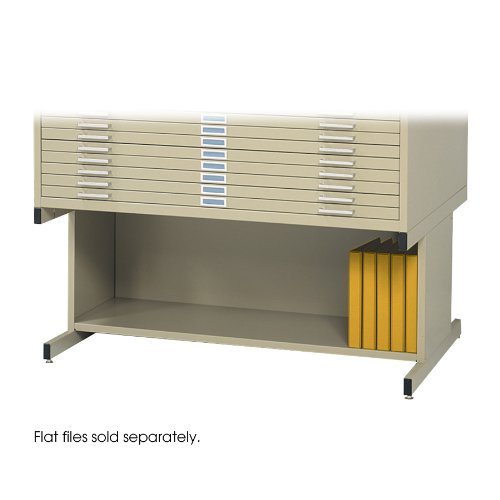 Safco Products 4977TS Flat File High Base for 5-Drawer 4996TSR Flat File, sold separately, Tropic Sand by Safco Products