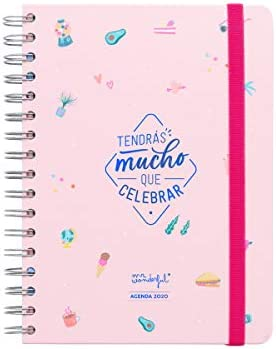 Mr. Wonderful WOA09932ES, Agenda, Tamaño Único, Multicolor: Amazon ...