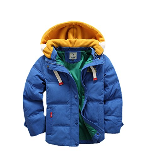 Children Detachable Hooded Boys Coat Down Anoraks Jacket Winter Blue Lemonkids;® gadqxvq