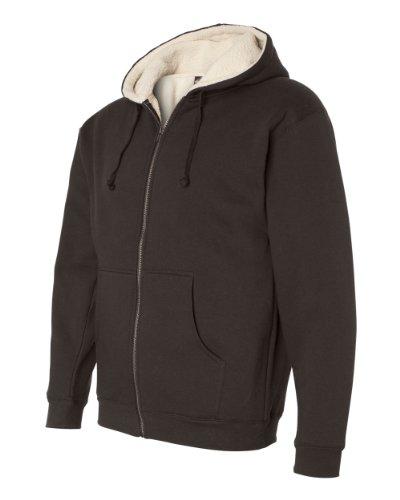 Basic Full Zip Hoody Sweatshirt (Independent Trading Co. - Sherpa Lined Full-Zip Hooded Sweatshirt - EXP40SHZ)
