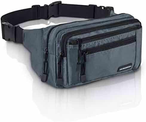 19d538ebe1 VAN BEEKEN Fanny Pack for Men Women Belt Bag Waist Bag Hip Bag I Waterproof  Bum