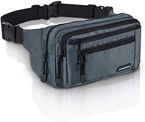 03fcb083 Amazon.com   VAN BEEKEN Fanny Pack for Men Women Belt Bag Waist Bag Hip Bag  I Waterproof Bum Bag I Supreme Waist Pack Phanny Pack for Hiking Travel  Running, ...
