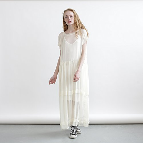 Christmas sale: Sheer Maxi dress, Cocktail Dress, Ivory Maxi Dress by Naftul