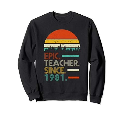 Halloween 1981 Quotes (Epic Teacher Since 1981, Retro style Teacher Gift)