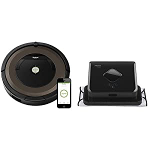 iRobot Roomba 890 Robot Vacuum with Wi-Fi Connectivity & iRobot Braava 380t Robot Mop