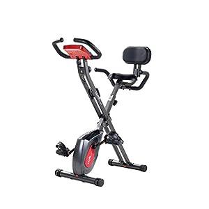 41PWnBa9hsL. SS300 BBYBK Ergometro- Cyclette Sdraio,ergometro Cardio, Mini Cyclette biciclo pedaliera Pieghevole Hometraining,Disply LCD Grosso,per Riabilitazione Muscolare Braccia e Gambe