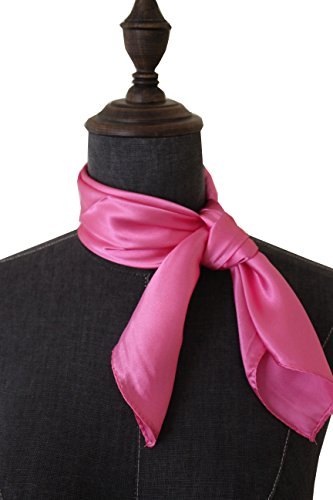 (Silk square scarf pure color head scarf blend neckerchief (pink))
