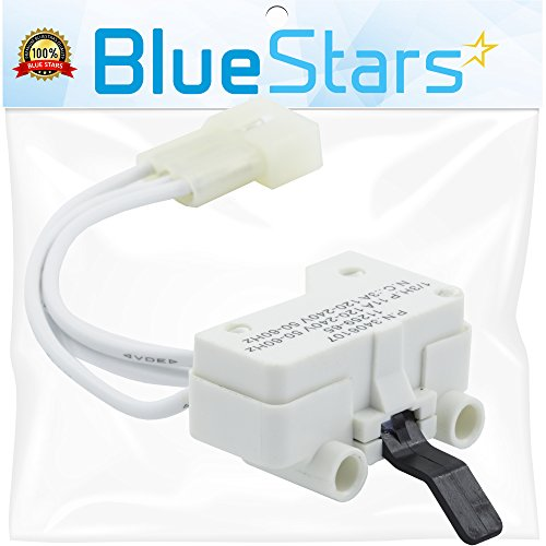 Ultra Durable 3406107 Dryer Door Switch Replacement part by Blue Stars - Exact fit for Whirlpool & Kenmore Dryer - Replaces 3405100, 3405101, 3406100, 3406101, (Switch Manufacturer Part Number)