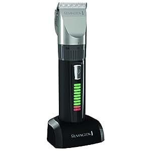 Remington HC5810 Pro Advanced Ceramic - Cortapelos profesional, indicador LED, 40 minutos de autonomía, incluye 10 peines