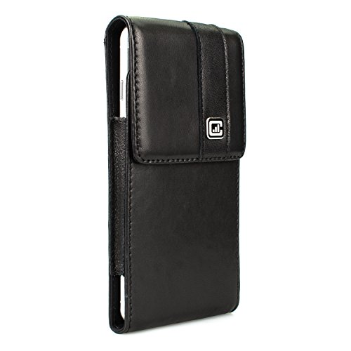 [NEW Gorilla Clip] CASE123 MPS Mk II SL Premium Genuine Lambskin Slim Vertical Swivel Belt Clip Holster for Apple iPhone 6 / 6s / 7 Plus for use with no cases or covers