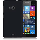 WOW Imagine Matte Rubberised Hard Case Back Cover For Nokia Microsoft Lumia 535 (Black) + FREE MEMORY CARD READER