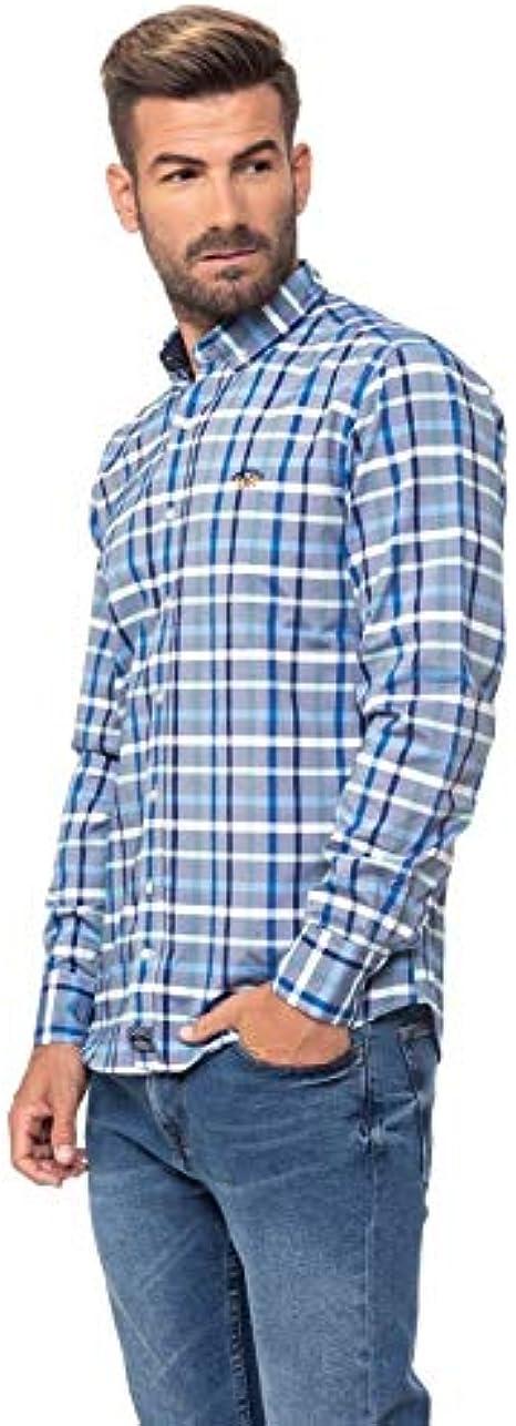 Spagnolo 104002547068 Camisa Casual, Multicolor (Azul/Blanco ...