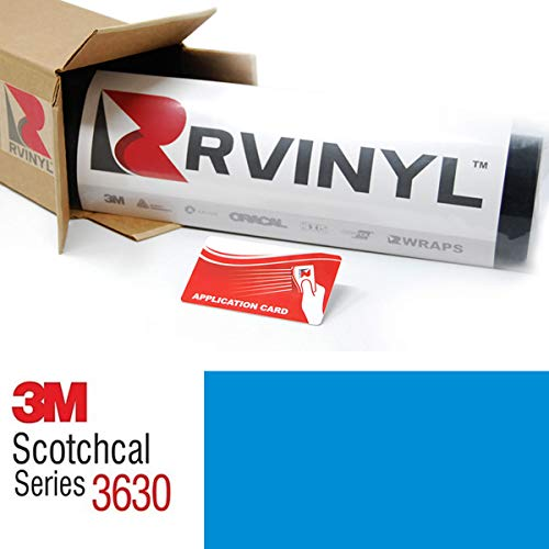 - 3M 3630 Light European Blue 147 2ft x 3ft W/Application Card Scotchcal Translucent Graphic Vinyl Film Sheet Roll - for Cricut, Silhouette Cameo, Craft and Sign Cutters