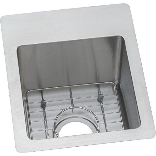 R13169BG1 Single Bowl Dual Mount Stainless Steel Bar Sink Kit (Universal Mount Single Bowl Sink)