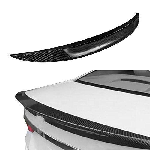 Mophorn Carbon Fiber Rear Trunk Lip Spoiler Fit for 2007-2013 BMW E92 Coupe 328i 335i M3 Rear Wing Spoiler High Kick Replacement Wing Lip Trunk Boot Lid Rear Spoiler (for E92 Coupe 328i 335i M3) ()
