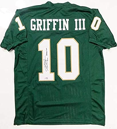 Robert Griffin III Autographed Green College Style Jersey w ...