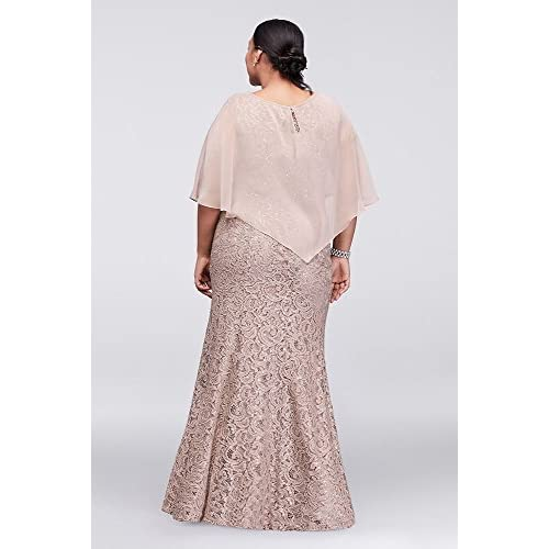 30%OFF David\'s Bridal Long Lace Plus Size Mother of Bride/Groom ...