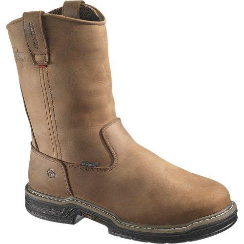 (Wolverine Men's Marauder Waterproof Steel-Toe EH Wellington Work Boot (9.5 EW in Brown))
