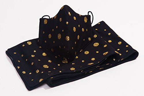 M11-Black-Mesh-Gold-Glitter-Dots-Mask-Scarf-Set