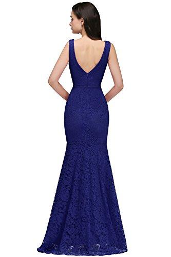 Spitzen Gr Babyonlinedress Abendkleider 32~46 König Blau Lang Damen Hochzeitskleider Brautjungfernkleid Meerjungfrau 8EYqw