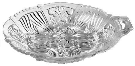 2 Part Relish Dish (Indiana Glass Killarney Clear Glass ( 2-Part Relish Dish ))