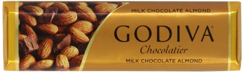 Godiva Milk Chocolate Bar with Almonds, 1.5000-ounces (Pack of 8)