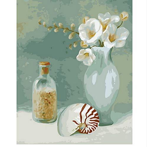 XIGZI Bild ölgemälde by Zahlen wanddekoration DIY malerei auf leinwand für heimtextilien Machen einen Spaziergang 40x50 cm,Mit Holzrahmen,F B07NVD6NHG | Export