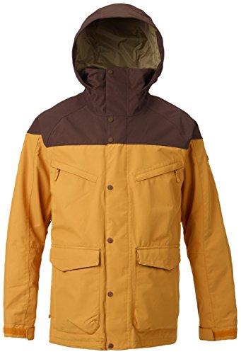Burton Men's Shell Breach Jacket, Golden Oak/Chestnut, Medium