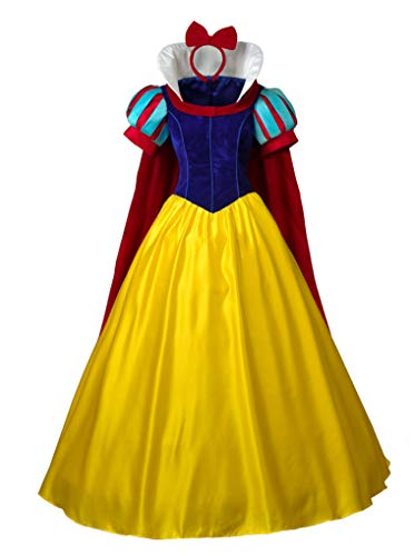 CosFantasy Princess Snow White Cosplay Costume Deluxe Ball Gown mp003881 (Women M) ()