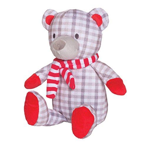 Manhattan Toy Holiday Pattern Plush Bear - Gray Plaid