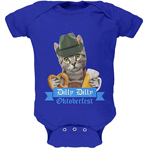 2 Old Germany Stein - Dilly Dilly Oktoberfest Funny Cat Soft Baby One Piece Royal 0-3 M