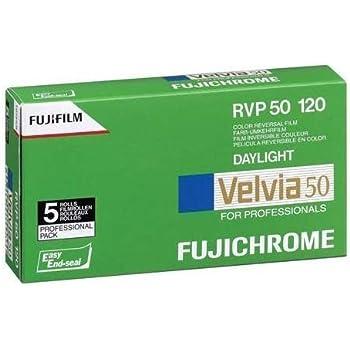 Fujifilm Fujichrome Velvia 50 Color Slide Film ISO 50, 120 size, 5 Roll Pro Pack