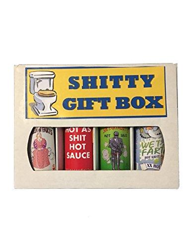 Shitty Gift Box. Funny Hot Sauce Gift Set