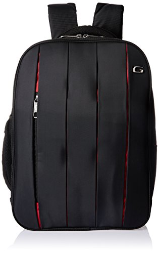 Gear Sport 18 ltrs Black and Red Laptop Bag (BUS0PLEAT0109)