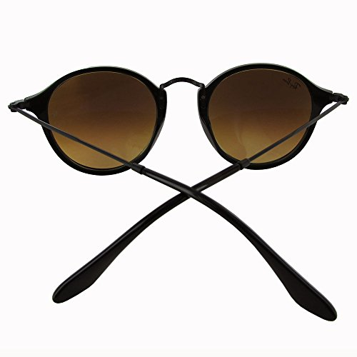 Man Blue Sunglass de Acetate Black Black Shiny Mirror soleil Shiny Ray Lunettes Ban Gradient Cqw14gX