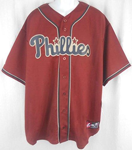 Philadelphia Phillies Alternate Brick Majestic Replica Jersey Big & Tall Sizes (3XL)