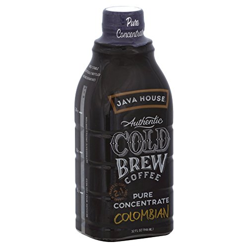 JAVA HOUSE Authentic Cold Brew Colombian Black 2:1 Concentrate 32 Ounce