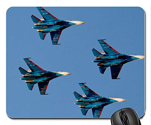 Russian Knights Flight Fighter Pattern Customized Rectangle Non-Slip Rubber Mouse pad Gaming Mouse mats